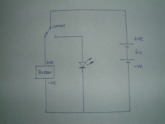 Microswitch and Buzzer